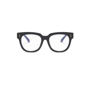 Gafas de moda coreana para mujer gafas clásicas negras anti-azul unisex gafas color gelatina marco grande azul película plana espejo