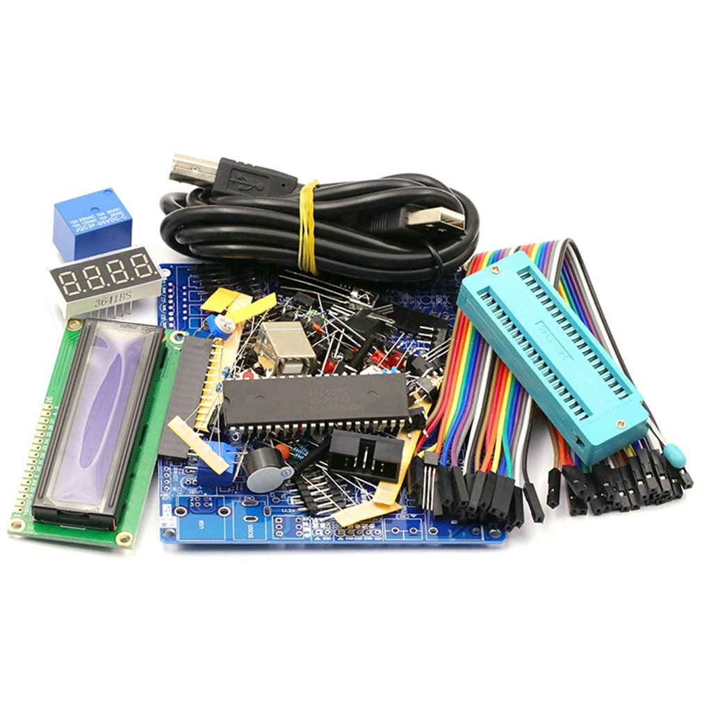 51 Mcu Development Board Learning Board Kit Diy Kit Welding Components 51 Single Chip Core Board Parts