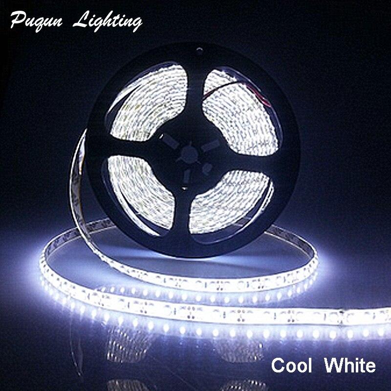 Hot Sale ! Waterproof 3528 LED Strip Light 12V Ribbon Tape 5m 120led/m Warm White Cold White LED Stripe Fiexble Light Strip