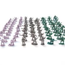 100pcs  high Soldier Model Military sandbox game Plastic Toy Soldier Army Men Figures For Children's toy dolls gift