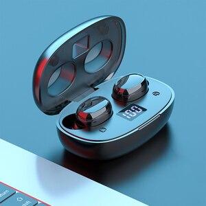 Bluetooth наушники беспроводные наушники TWS Hi-Fi стерео наушники отпечаток пальца сенсорная спортивная водонепроницаемая гарнитура с микрофоно...