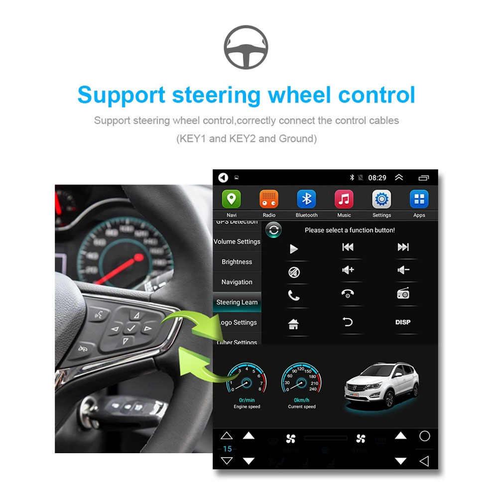 Tesla dikey ekran android 8.1 araba gps multimedya radyo çalar dash Hyundai Elantra 2016 araba navigasyon 4G LTE stereo