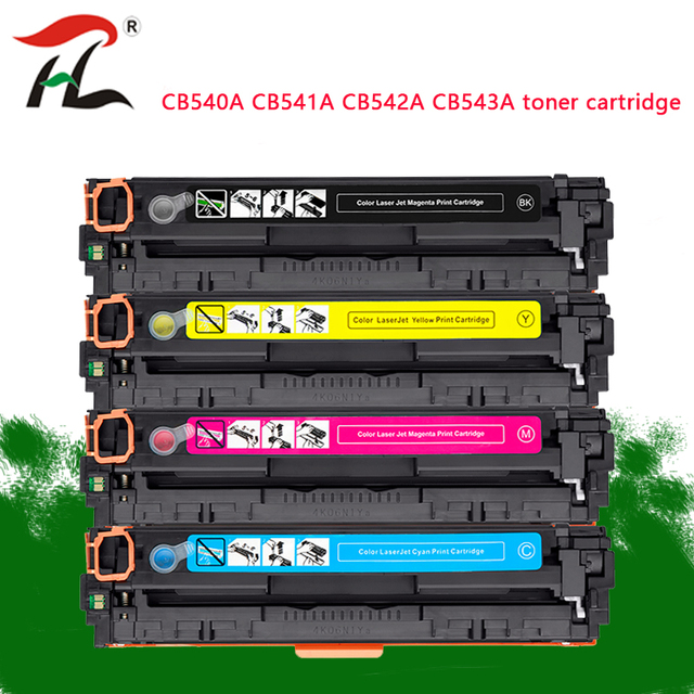 4PK Compatible toner cartridge CB540A 540A CB541A CB542A CB543A 125A for HP laserjet 1215 CP1215 CP1515n CP1518ni CM1312 printer