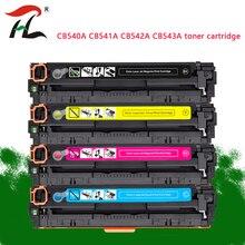 4PK uyumlu toner kartuşu CB540A 540A CB541A CB542A CB543A 125A HP laserjet 1215 için CP1215 CP1515n CP1518ni CM1312 yazıcı