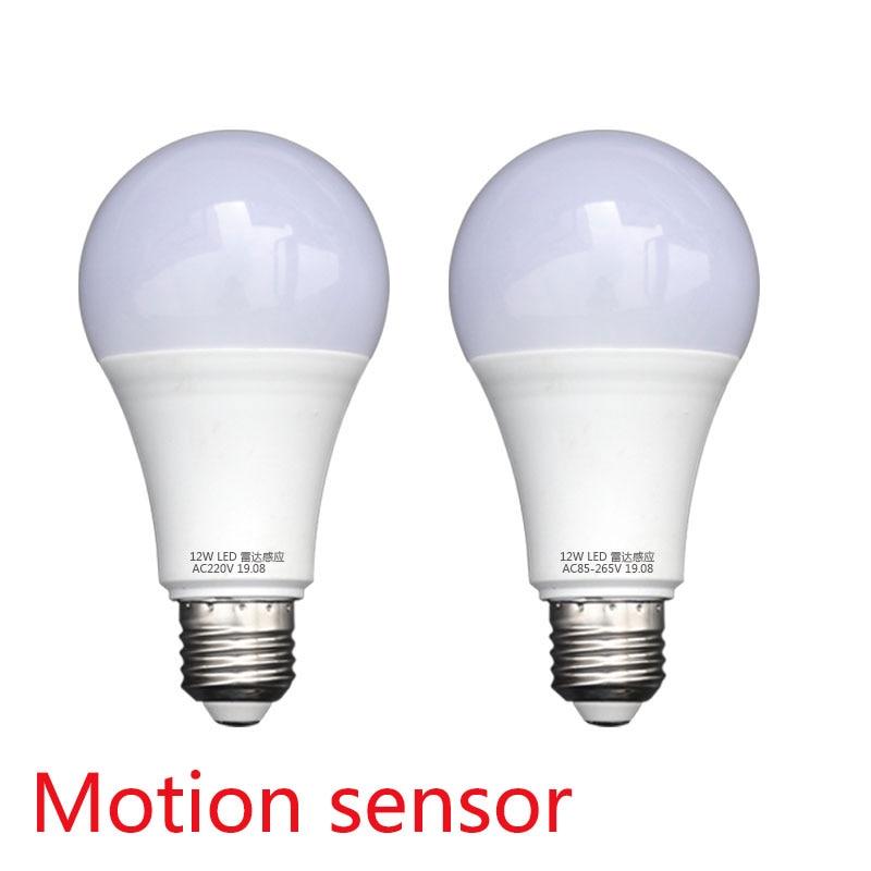 E27 LED Microwave Radar Motion Ambient Sensor Light Lamp Bulb AC85-265V 5W Jv9 Blubs