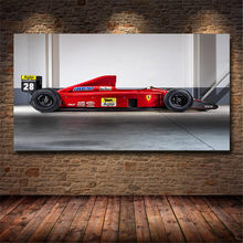 Formula 1 Car Kimi Raikkonen Print Oil Canvas Painting Racing Lovers For Living Room Bedroom Home Decoration Painting Unframed