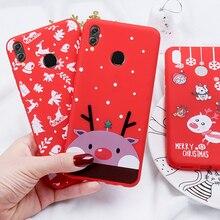 Cassa del telefono Per Huawei P20 Lite P30 Lite per per Huawei Honor 10 20 Lite 9X 8X Di Natale Santa copertura del silicone di TPU Del Fumetto Girly