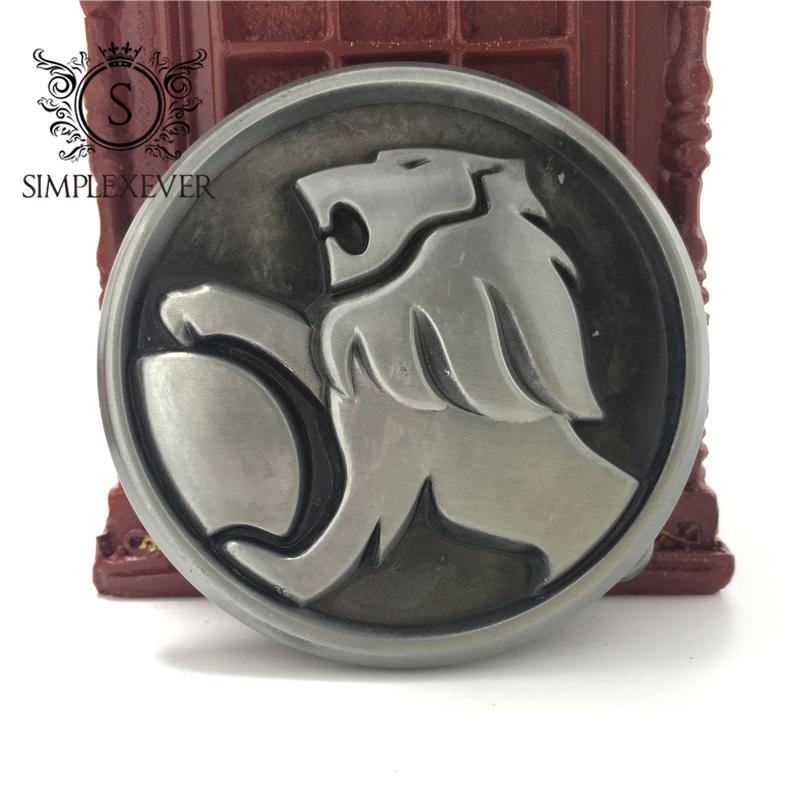 Cowboys Jeans 3D Lion Head Belt Buckle Western Zinc Alloy Belt Buckle For Men's Jeans Accessory