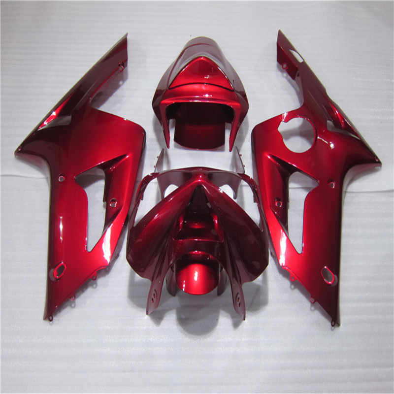 Fairing Red white For KAWASAKI NINJA ZX6R 03 04 ZX 6R 636  ZX636 ZX 6R ZX 6 R 03 04 Red  2003 2004
