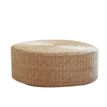 Tatami Floor Pillow Seating Cushion,Round Padded Room Floor Straw Mat for Outdoor Indoor Seat(17.7 Inch x 4.2 Inch)(China)