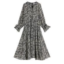 2020 nian новый стиль для осени и зимы шифоновое Цветочное платье