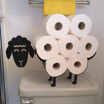 Owca dekoracyjny uchwyt na papier toaletowy wyposażenie łazienkowe przechowywanie tkanek uchwyt na papier toaletowy wyposażenie łazienki przechowywanie papieru żelaznego tanie i dobre opinie STAINLESS STEEL NONE CN (pochodzenie) paper holder Posiadacze papieru Sheep Decorative Bathroom Iron Storage Bathroom Tissue Storage