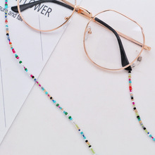 Women Anti Slip Glasses Chain Colored Beaded Eyeglasses Lanyards Sunglasses Strap Spectacles Cord