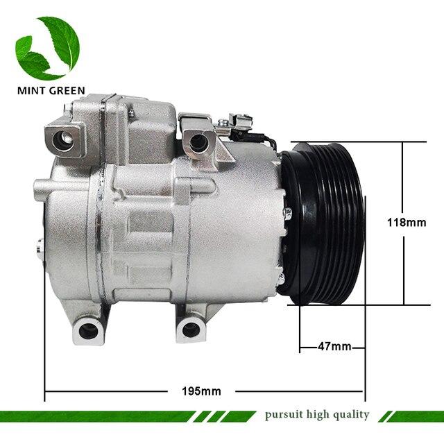 Compressor AC Para Hyundai Sonata 2.4L HS15 l4 para Kia Optima Magentis 2.4L 2.7L 977012B250 97701 2B251 97701 2B300 977012B350
