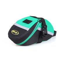 все цены на 3 Color PVC Waterproof Bicycle Tail Bag 600D Nylon Storage Saddle Bag Mountain Bike Bag Outdoor Riding Bag Bicycle Accessories онлайн