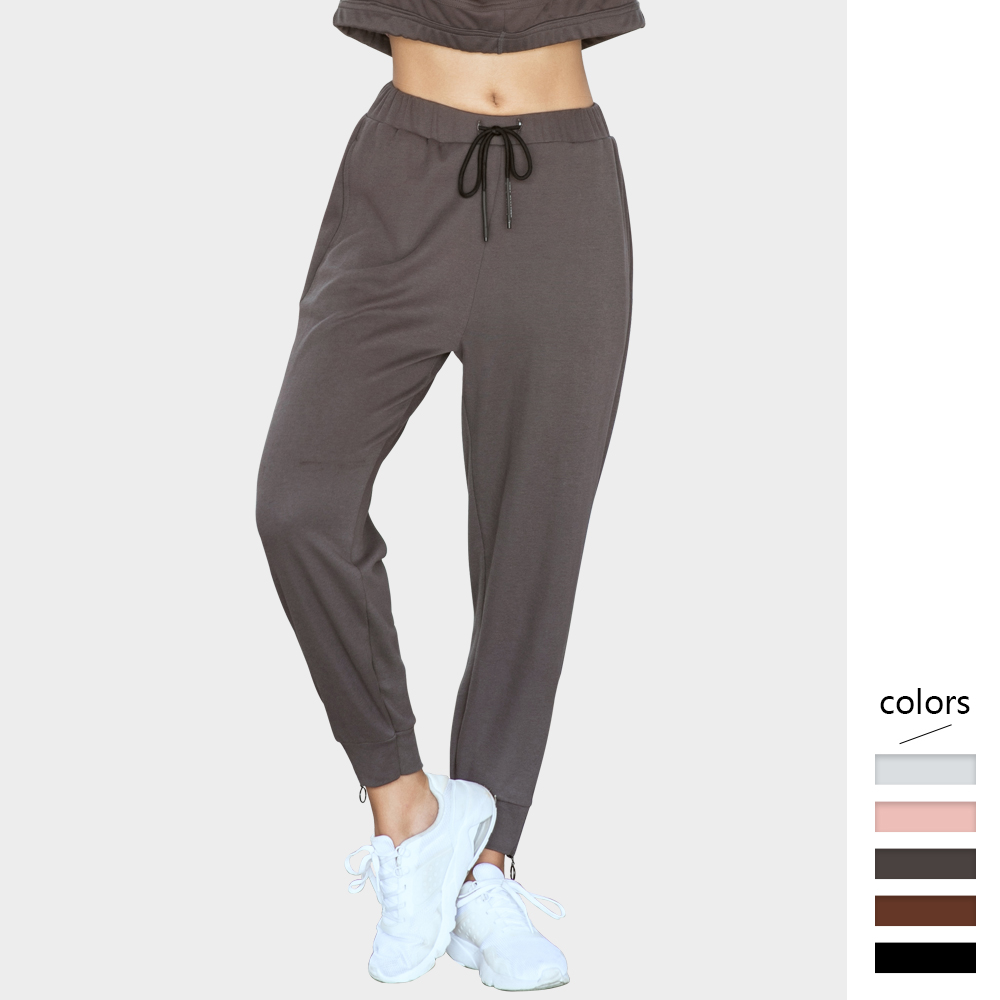 Loose Harem Pants Women Elastic Waistband With Drawstring Thin Ankle-length Trousers Running Sports Quick Dry Solid Pants Femme