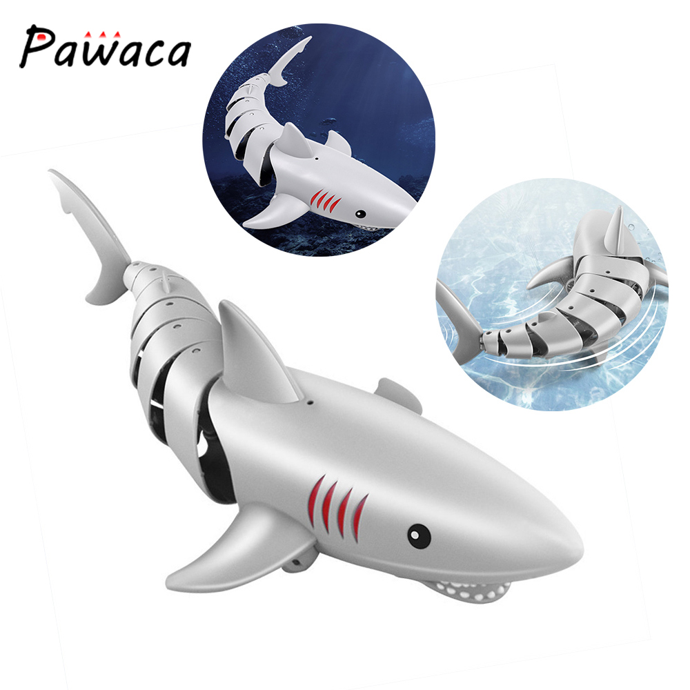 2,4G, juguetes de tiburón a Control remoto, tiburón de natación, Dropshipping, pez de imitación multifunción, Juguetes Divertidos para niños