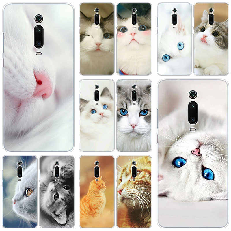 Hot Cute animal cat Silicone Case For Xiaomi Mi Note 10 9T CC9 E 9 Pro A3 Lite Play Redmi Note 8T 8 8A 6 Pro 6A 4X Fashion Cover