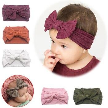 New 2020 Bowknot Baby Headband Elastic Turban Hairband Rabbit Bows kids Girl Headbands Hair bands Newborn accessories