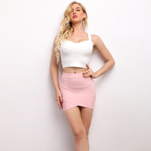 Women Hot Short Elastic Rayon Bandage Skirt Mini Sexy Slim Tight Pencil Night Club Party Candy