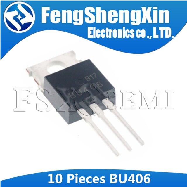 10 шт./лот Новый коммутационный транзистор BU406 TO 220 SILICON NPN