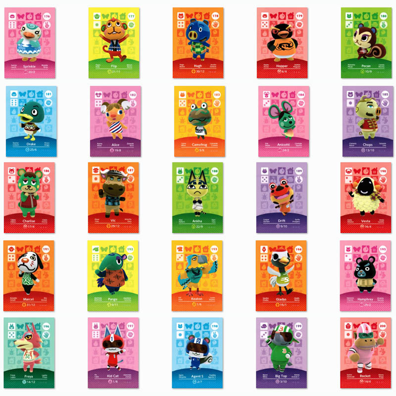 (176 To 200) Animal Crossing Card NTAG215 Printed NFC Card Compatible Pick From The List