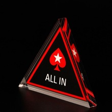 Acrylic Texas Hold'em Poker Chip ALL IN Triangle Poker Card Guard Casino Supply 27RD