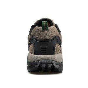 Image 3 - Humttoハイキング男性アウトドアスポーツキャンプ靴戦術的なスニーカー牛スエード革通気性ノンスリップビッグサイズ