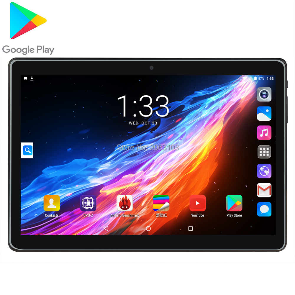 10 Inch Tablet Pc Quad Core Phone Call Wifi Bluetooth Google Market 2GB RAM 32GB ROM Android 7.0 GPS 1280x800 IPS Wifi Bluetooth