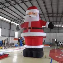 Подгонянный 6mH надувной Санта-Клаус для Рождественского украшения