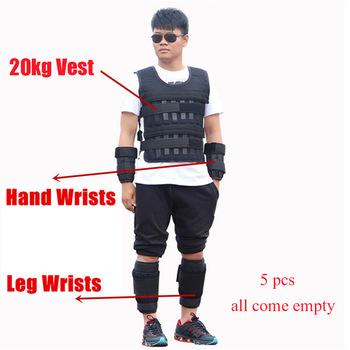 5-60KG Loading Weight Vest for Boxing Weight Training Workout Fitness Gym Equipment Adjustable Waistcoat Jacket Sand Clothing 8