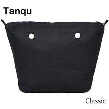 TANQU جديد الداخلية بطانة سستة جيب ل كلاسيكي حجم Obag سوبر المتقدمة إدراج مع الداخلية طلاء مضاد للماء ل O حقيبة