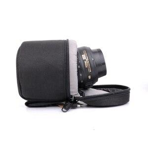 Image 2 - 7.5x9cm Camera Lens Pouch Lens Case Bag for 18 55mm 50mm f/1.8  35mm Canon Nikon