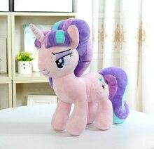 "Unicorn Starlight Glimmer peluş at aksiyon oyuncak figürler 12 ""30 CM"