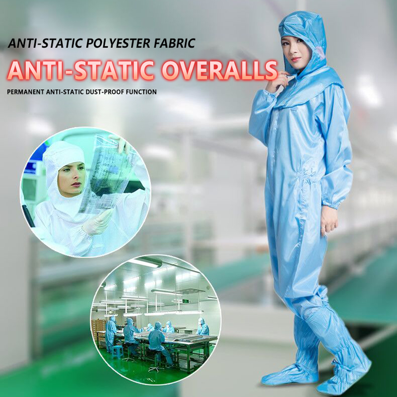Coverall Isolation Suit Protective Clothing Dust-proof Coveralls Antistatic Full Body Protection Safety Clothes Nurse Uniform