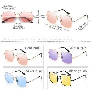 Image 5 - Top Fashion Oversized Style Sunglasses Women Polarized Ocean Color Shade Pink Chameleon Men Photochromic Night Driving Glasses