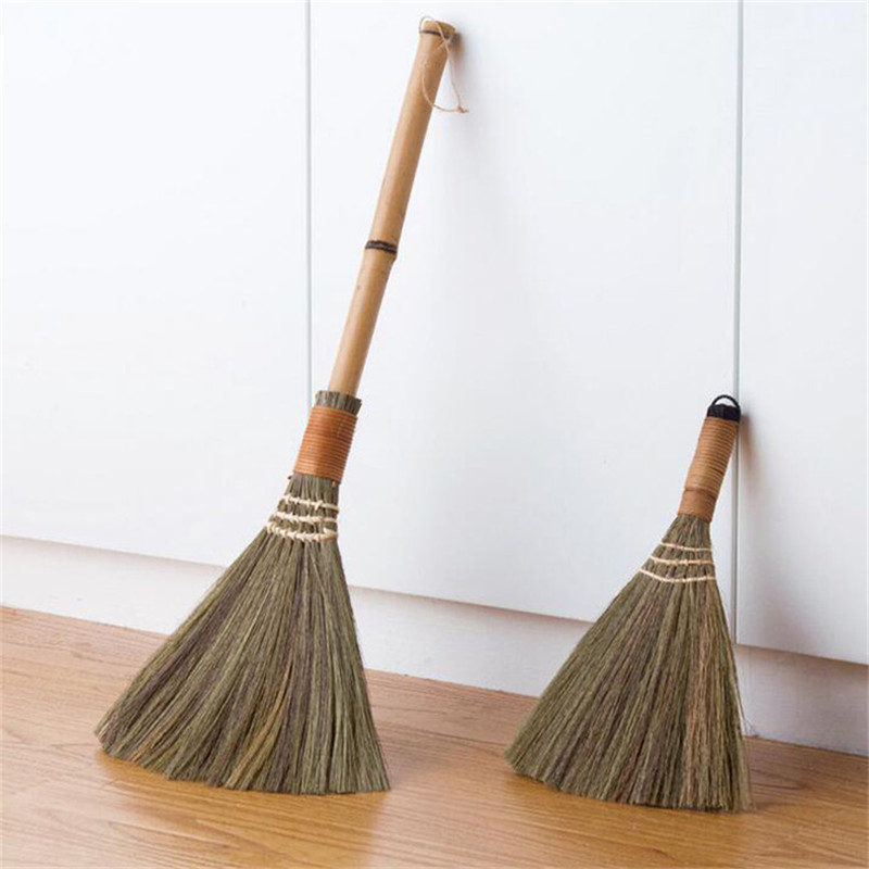 Dependable Wooden Floor Soft Fur Broom Sweeping Manual Archaize Broom Household Floor Hair Clean Mans Grass Sweeper Dust Brush Clean Tools