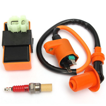 High Performance Motorcycle Racing 6pin CDI Ignition Coil Spark Plug Set Fit for Gy6 150cc 125cc 50cc Scooter Motorbike Parts new 10pcs spark plug a7tc a7tjc 3 electrode fit for gy6 50cc 70cc 90cc 110cc 125cc moped scooter atv quads motorcycle ignition