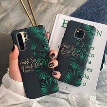 Shockproof Phone Case Voor Huawei P20 P30 Pro Mate 20 10 30 20Pro Lite Zachte Imd Banaan Blad En Bloem fruit Back Cover