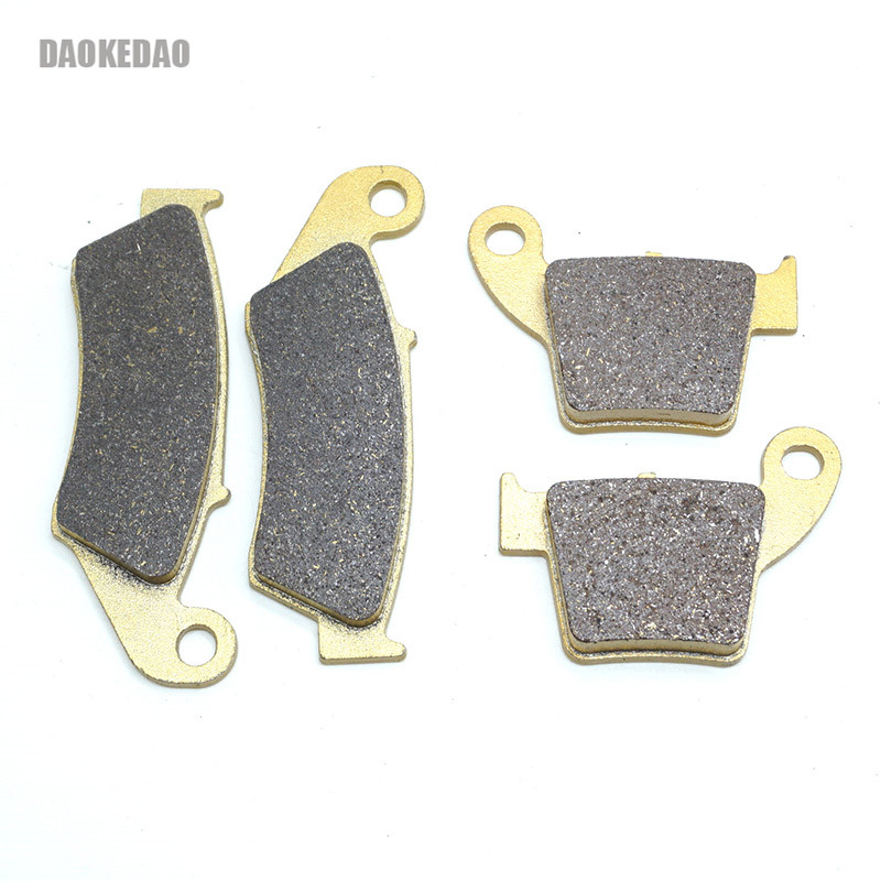 Motorcycle Front Rear Brake Disc Pads Set for Honda CRF250R CRF250X CRF450R CRF450X CR250R CRF250 CRF450 <font><b>CRF</b></font> 250 450 R X CR image