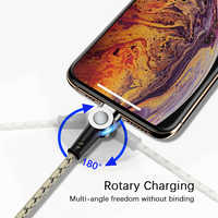 Universal 180° rotation Magnetic Micro USB Cable Fast Charging Type C Cable Magnet Charger Cable For HUAWEI Samsung