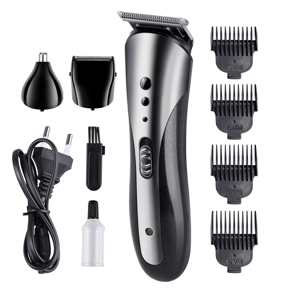 3-in-1 Hair Trimmer Rechargeable Electric Nose Clipper Bead Beard Grooming Razor EU Plug
