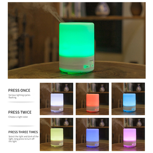 Image 3 - PIVOKA 820ml ארומתרפיה מפזר אוויר אדים חשמלי מפזר חיוני שמן Huile Essentiel עם LED לילה מנורת עבור בית