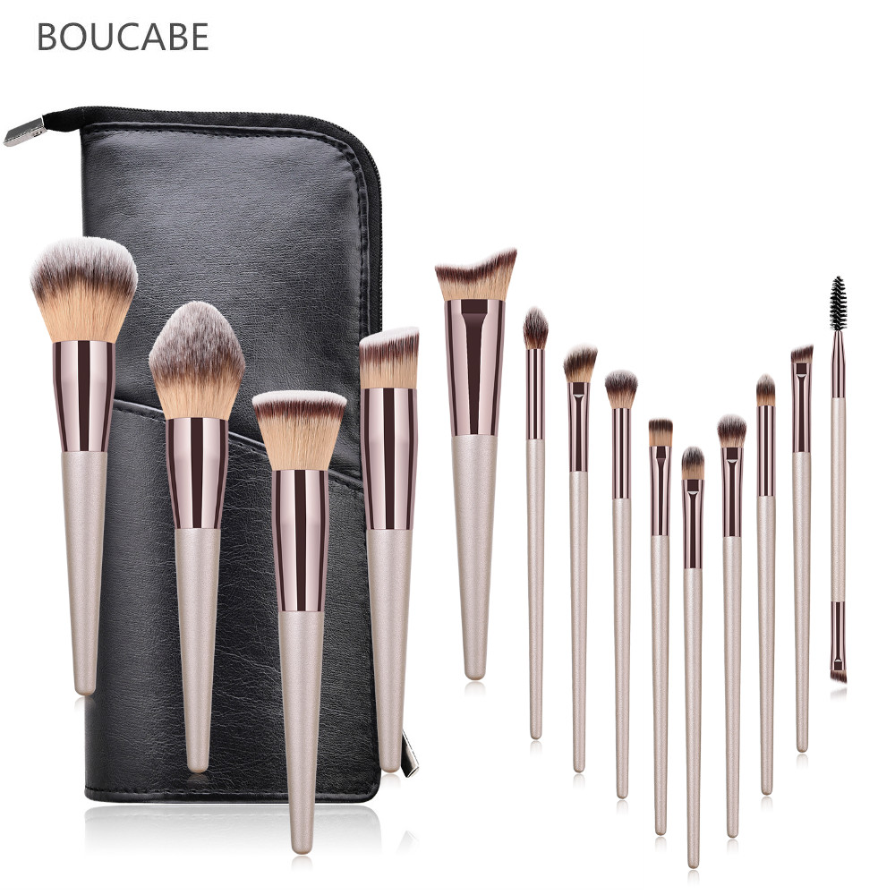 New Professional Makeup Brushes Set 6/9/10/14pcs Makeup Brush Travel Bag Foundation Eyeshadow Eyebrow Make Up Brush Beauty Tool