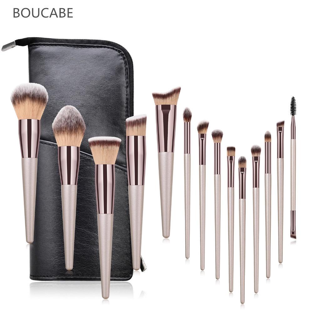 New Professional Makeup Brushes Set 6/9/10/14pcs Makeup Brush Travel Bag Foundation Eyeshadow Eyebrow Make Up Brush Beauty Tool
