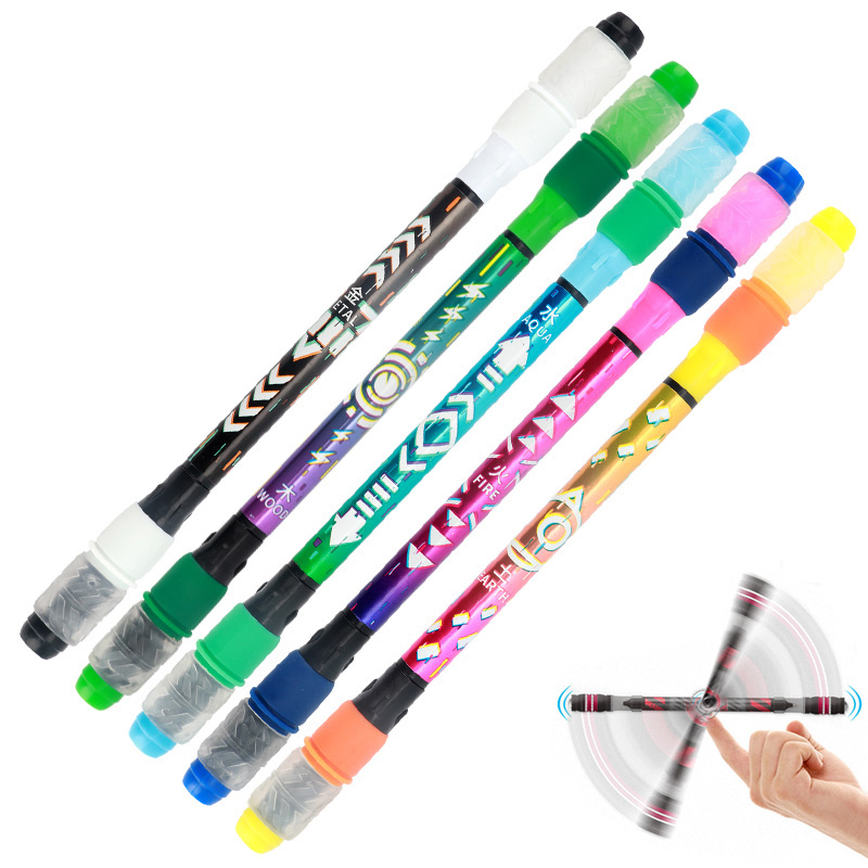 1pcs Novelty Spinning Pen Rotating Gaming Ballpoint Pen Blue Ink For Kids Students Gift Toy School Supplies Cute Stationery
