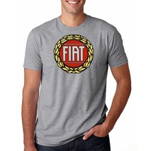 2019 New arrival men's Summer Style fashion T-Shirt FIAT classic logo Tee Casual T-Shirt(China)