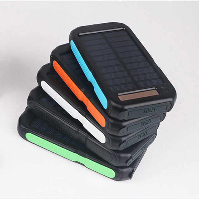 30000mah Solar Power Bank LED Outdoor Powerbank External Battery Dual Light Portable Mobile Charger for All smartphones  3