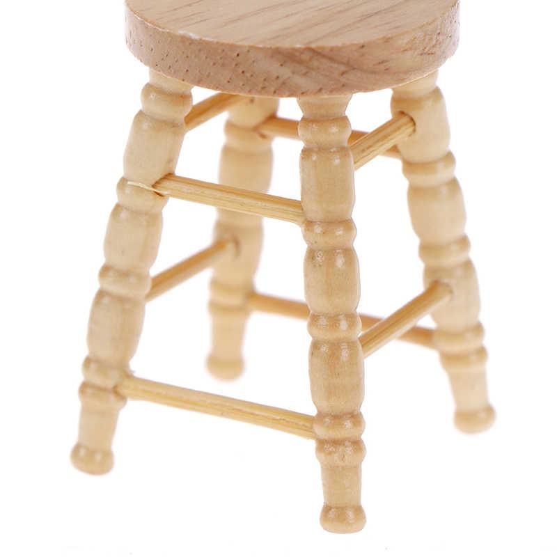 محاكاة أريكة صغيرة كرسي البراز الأثاث نموذج لعب لدمية ديكورات منزلية 1/12 دمية مصغرة الملحقات