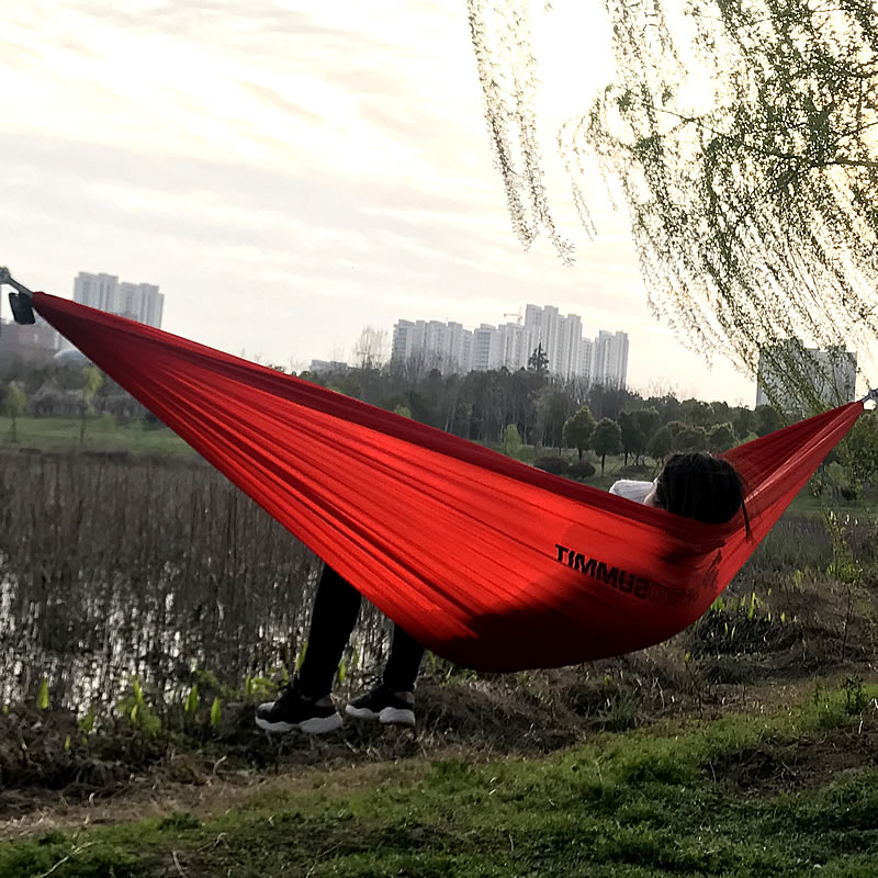 Portable Hammock Swing-Bed Parachute Hanging Outdoor Adult Kids Camping